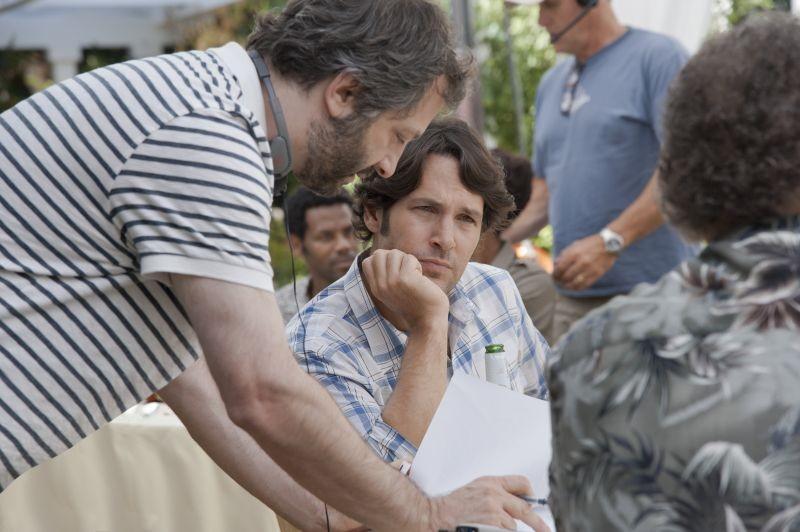 Paul Rudd sul set di Questi sono i 40 insieme al regista Judd Apatow
