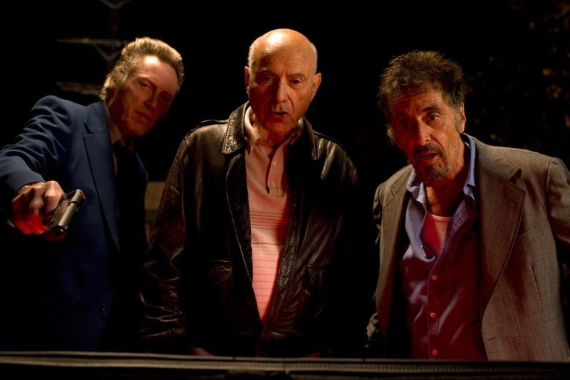 Stand Up Guys: i protagonisti Al Pacino, Christopher Walken e Alan Arkin in una scena