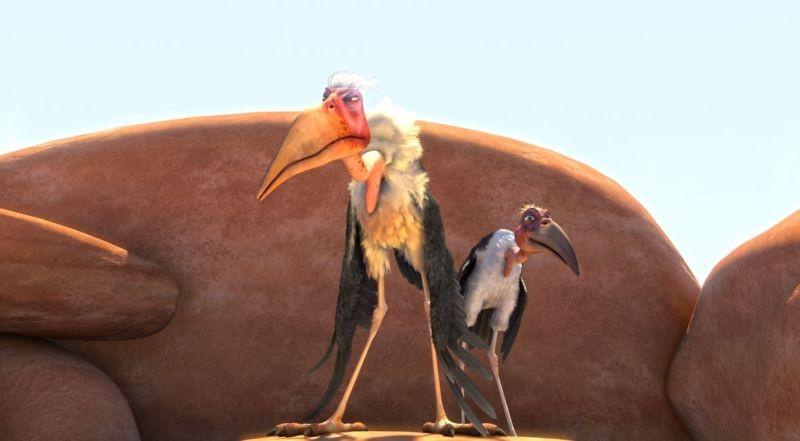 Zambezia: Cecil e Morton in una scena del film animato disponibile anche in 3D