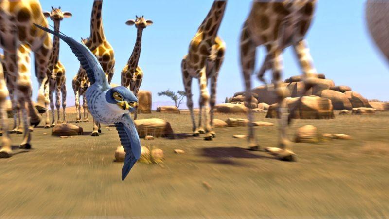 Zambezia: il giovane Kai in una scena del film tra le giraffe