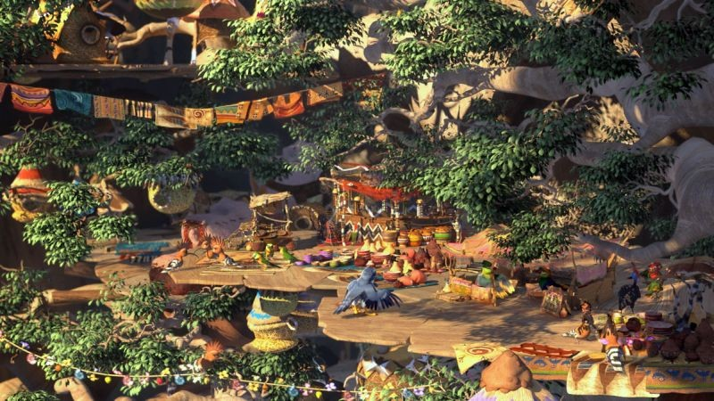 Zambezia: il mercato della città in una scena del film