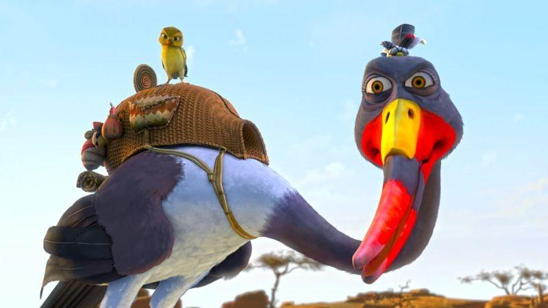 Zambezia: l'uccello Gogo in una scena del film in 3D