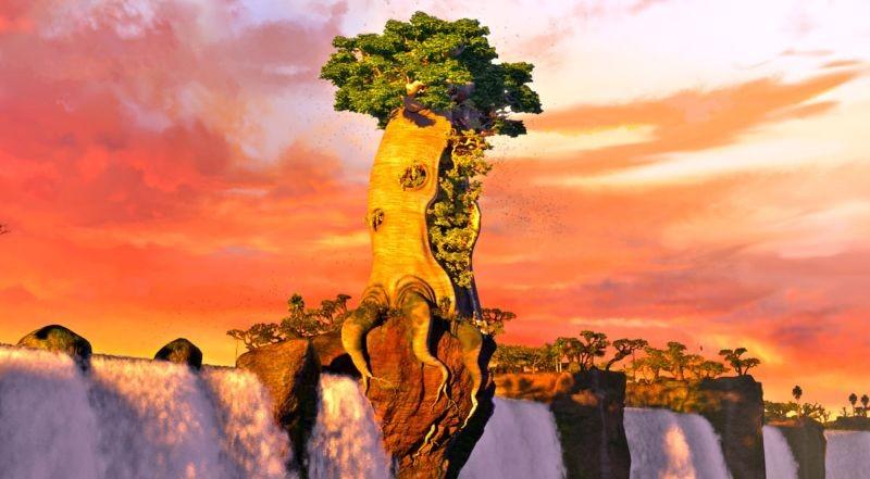 Zambezia: la città di Zambezia in una colorata immagine del film