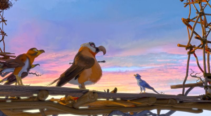 Zambezia: una scena del film animato disponibile anche in 3D