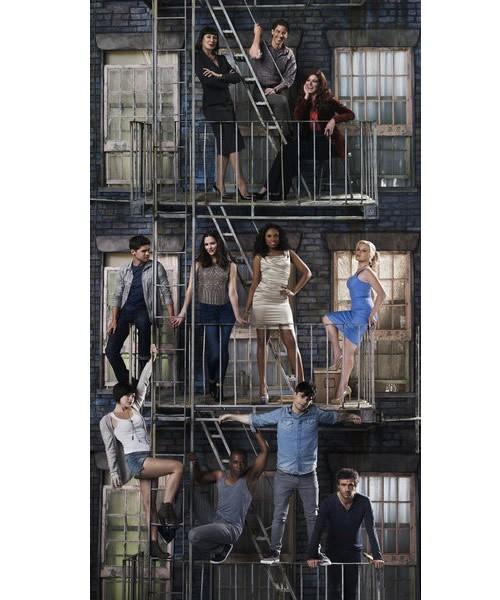 Il cast di Smash in un'immagine promozionale per la seconda stagione della serie
