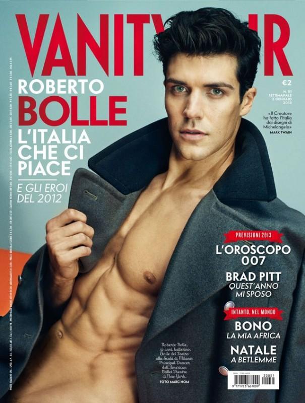Roberto Bolle in cover su Vanity Fair - dicembre 2012