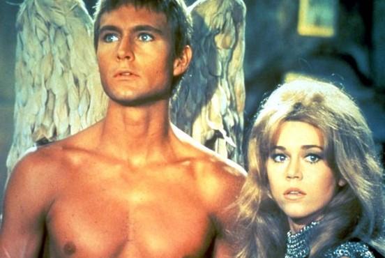 Jane Fonda con John Phillip Law  in Barbarella (1968)