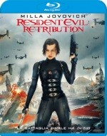La copertina di Resident Evil: Retribution (blu-ray)