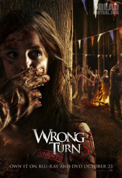 Wrong Turn 5 - Bagno di sangue: la locandina del film