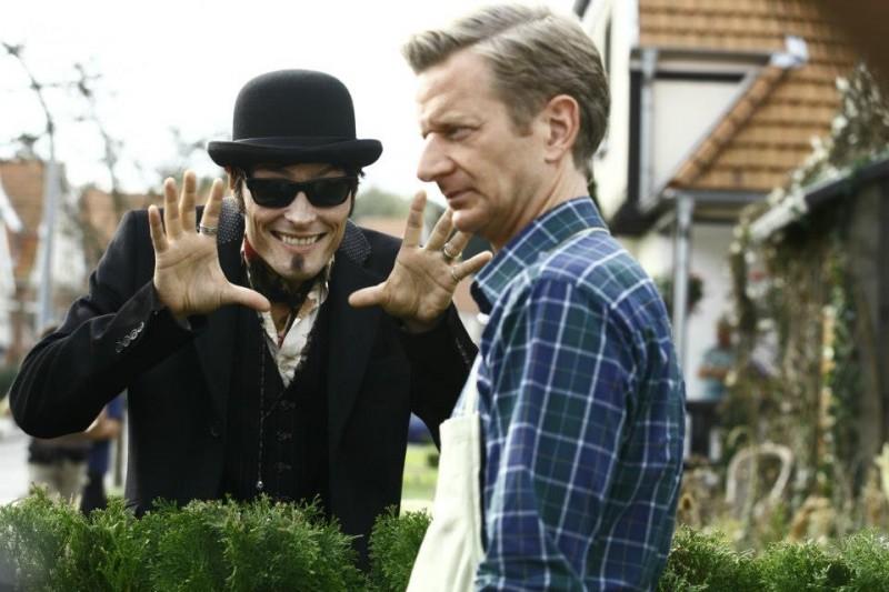 Stipe Erceg con Michael Kessler nella vampire-comedy Die Vampirschwestern