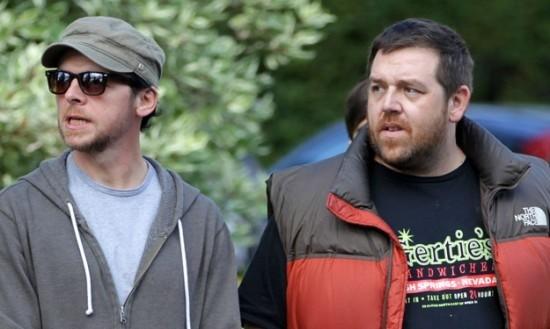 The World's End: Simon Pegg e Nick Frost sul set