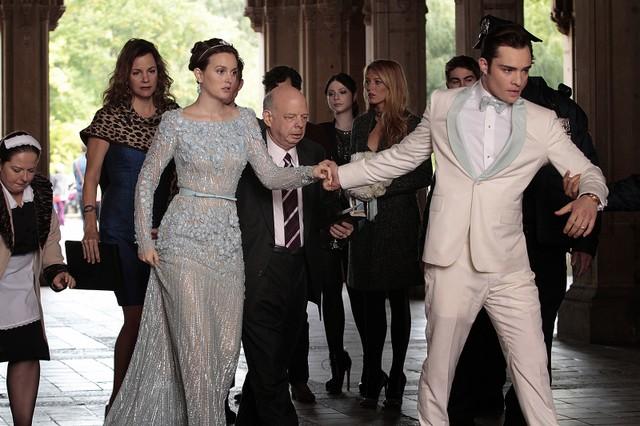 Gossip Girl: Leighton Meester e Ed Westwick in una scena dell'episodio finale New York, I Love You XOXO