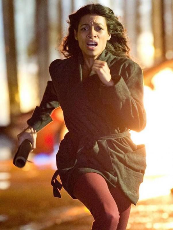 Trance: Rosario Dawson in fuga sul set del film