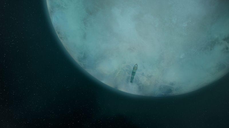 Cirque du Soleil: Mondi lontani 3D, un'immagine dello spazio tratta dal film