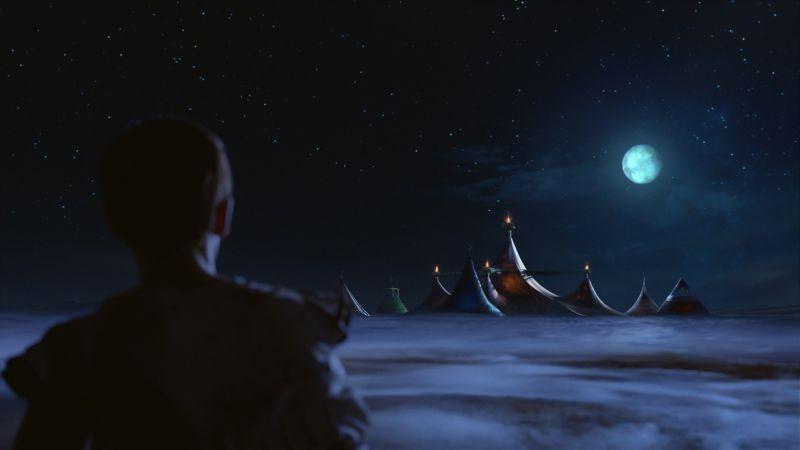 Cirque du Soleil: Mondi lontani 3D, una scena del film