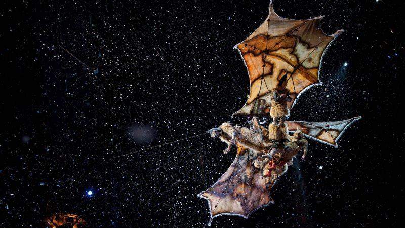 Cirque du Soleil: Mondi lontani 3D, una scena tratta dal film