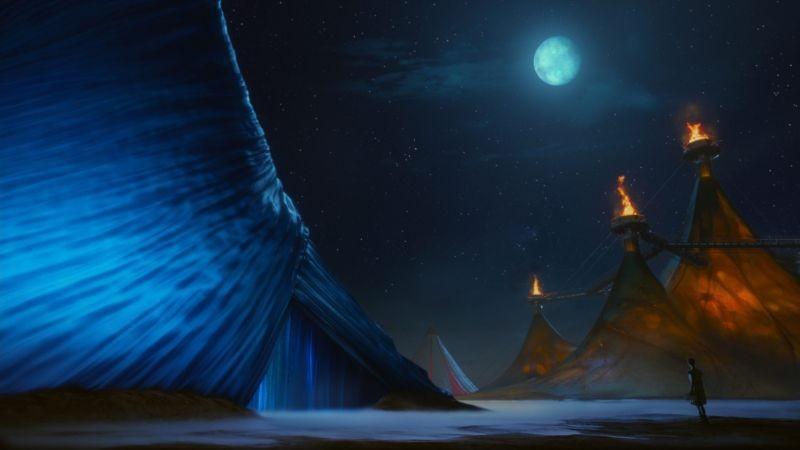 Cirque du Soleil: Mondi lontani 3D, una spettacolare scena del film