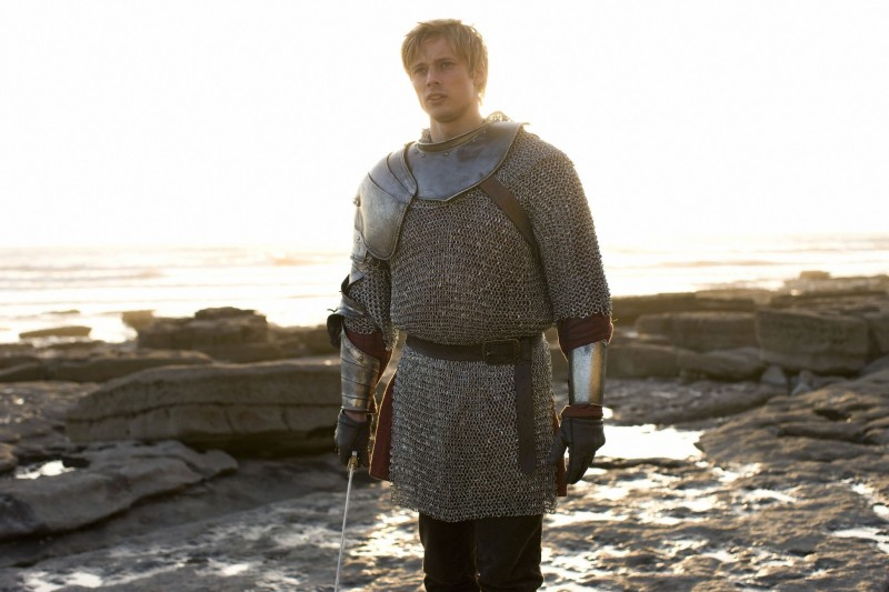 Merlin: Bradley James in una scena dell'episodio Il labirinto Gedref, della prima stagione