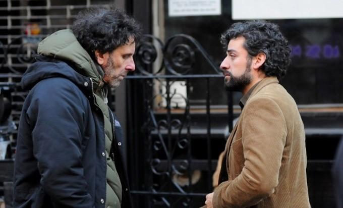 Inside Llewyn Davis: il regista Joel Coen e Oscar Isaac sul set