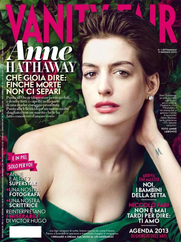 Copertina Vanity Fair Italia dedicata ad Anne Hathaway (2013)