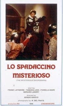 Lo spadaccino misterioso: la locandina del film