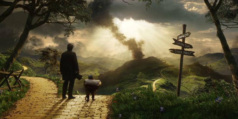 Il grande e potente Oz: James Franco e la scimmietta facchino in vista di Oz