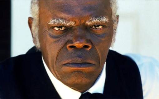 Un primo piano di Samuel L. Jackson in Django Unchained
