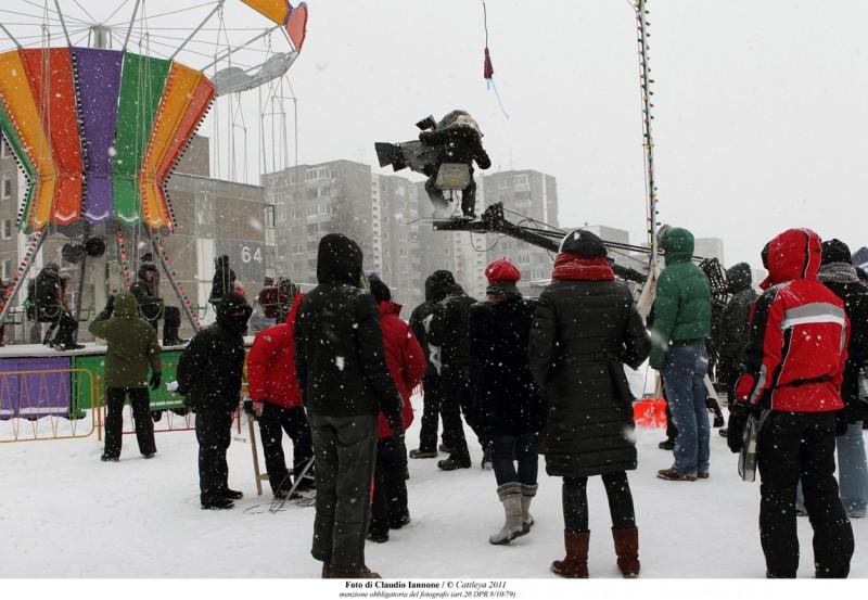 Educazione Siberiana: una immagine del set