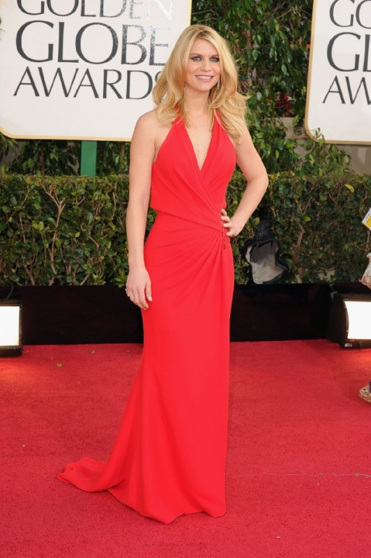 Claire Danes sul red carpet dei Golden Globes 2013 per Homeland