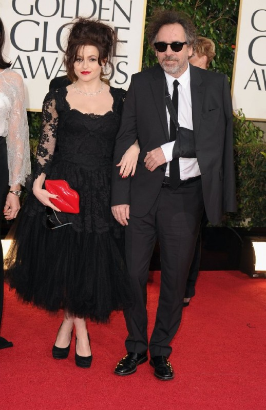 Helena Bonham Carter e Tim Burton svilano sul red carpet dei Golden Globes 2013