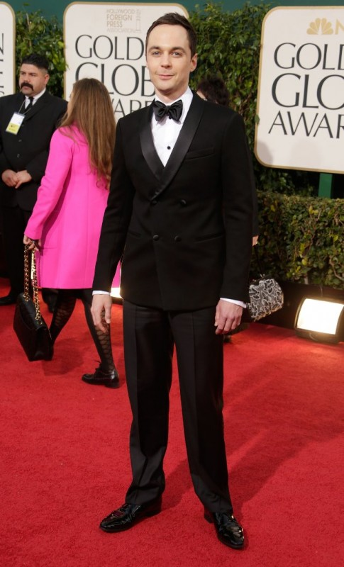 Jim Parsons sul red carpet dei Golden Globes 2013 per The Big Bang Theory