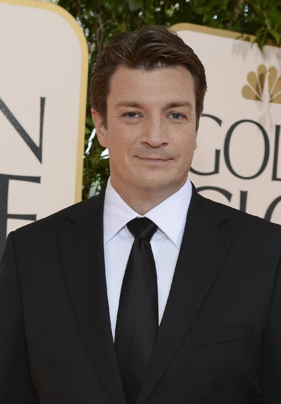 Nathan Fillion sul red carpet dei Golden Globes 2013 per Castle