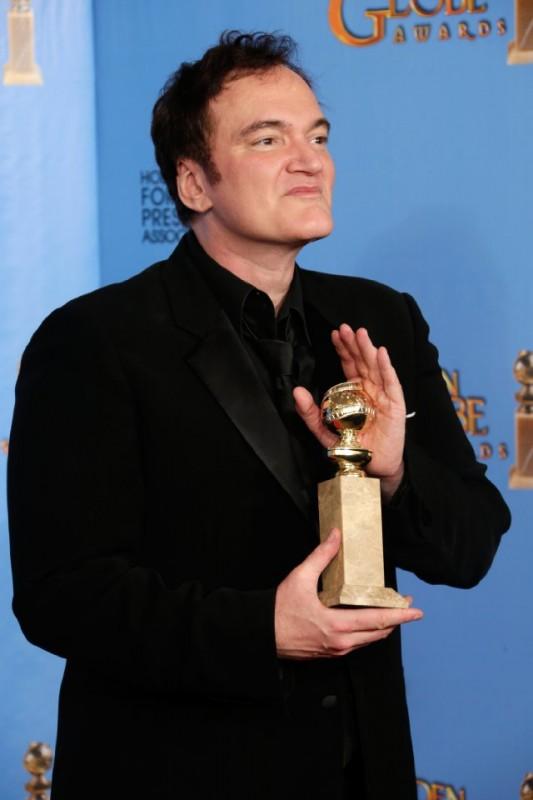 Quentin Tarantino vince il Golden Globes 2013 per la sceneggiatura di Django Unchained