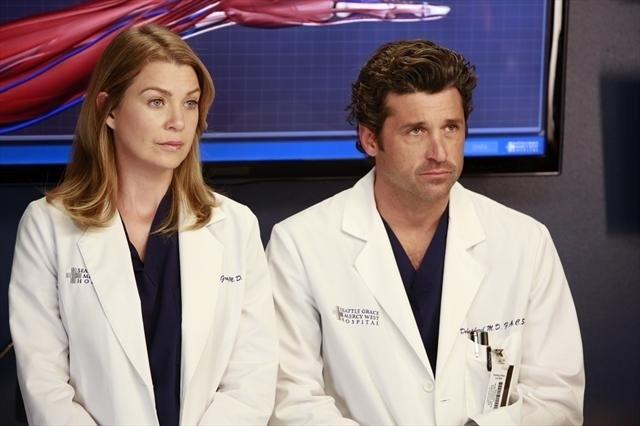 Grey's Anatomy: Ellen Pompeo e Patrick Dempsey nell'episodio Run, Baby, Run, della nona stagione