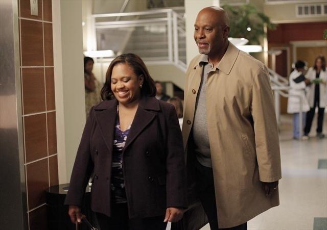 Grey's Anatomy: James Pickens Jr. e Chandra Wilson nell'episodio I Was Made for Lovin' You, della nona stagione