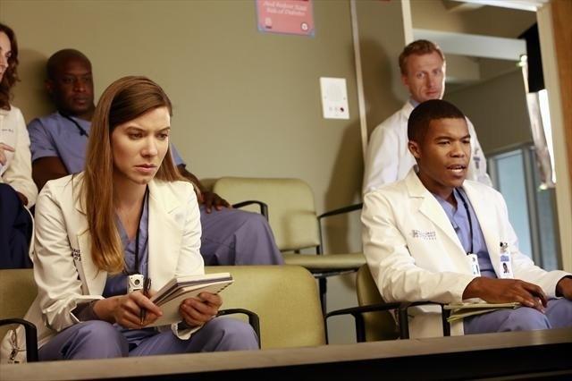 Grey's Anatomy: Tessa Ferrer, Gaius Charles e Kevin McKidd nell'episodio Love Turns You Upside Down, della nona stagione