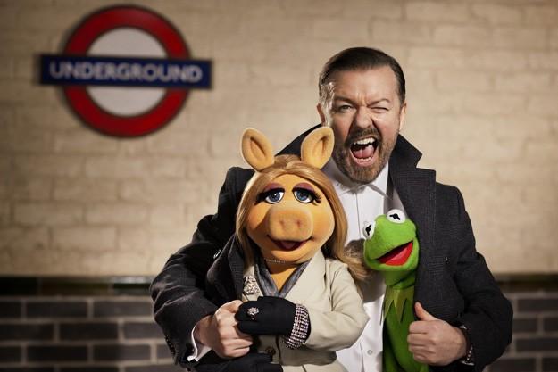 The Muppets... Again!: Ricky Gervais insieme a Kermit e Miss Piggy