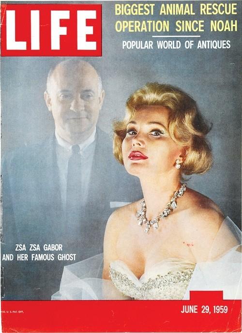 Zsa Zsa Gabor sulla cover di LIFE - 1959