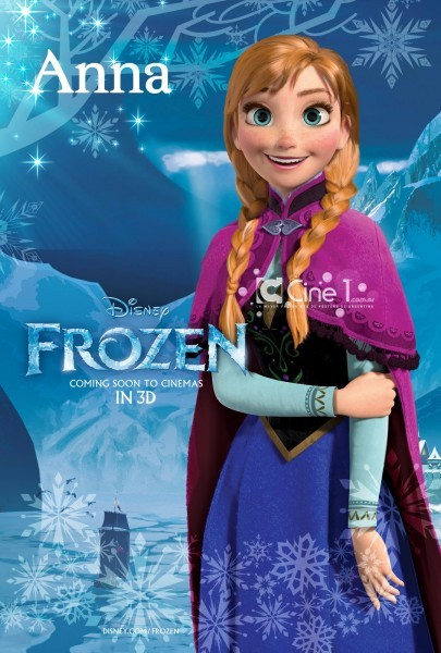 Frozen: character poster dedicato al personaggio di Anna