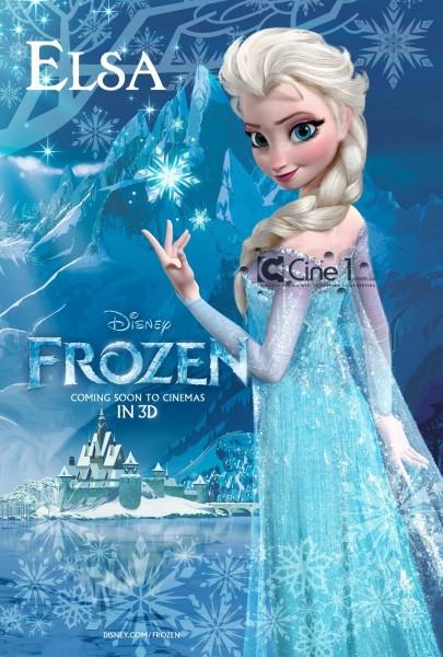 Frozen: character poster dedicato al personaggio di Elsa
