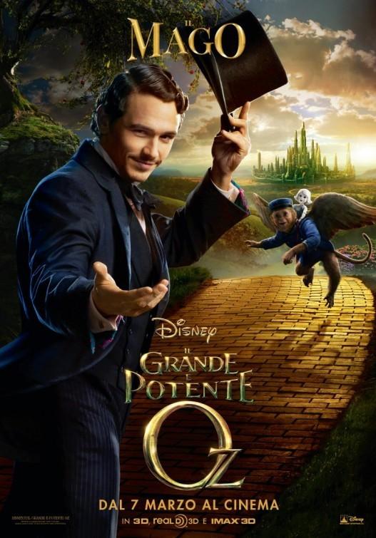 Il grande e potente Oz: character poster italiano per James Franco