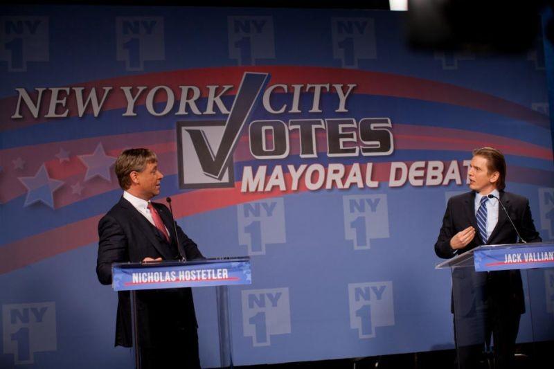 Broken City: Russell Crowe a confronto con l'avversario Barry Pepper in una scena del film
