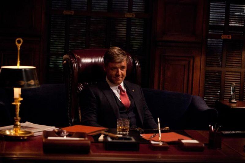 Russell Crowe in una scena di Broken City nei panni del sindaco di New York