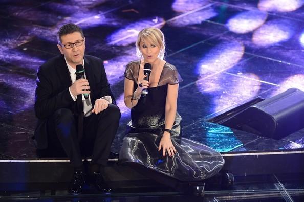 Sanremo 2013: Fabio Fazio e Luciana Littizzetto durante la terza serata
