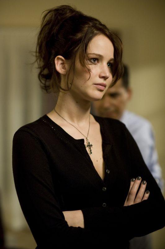 Jennifer Lawrence è seria in una scena di The Silver Linings Playbook