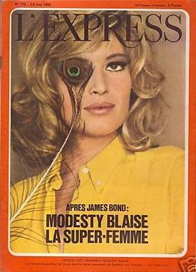 Copertina de L'Express dedicata a Monica Vitti in Modesty Blaise