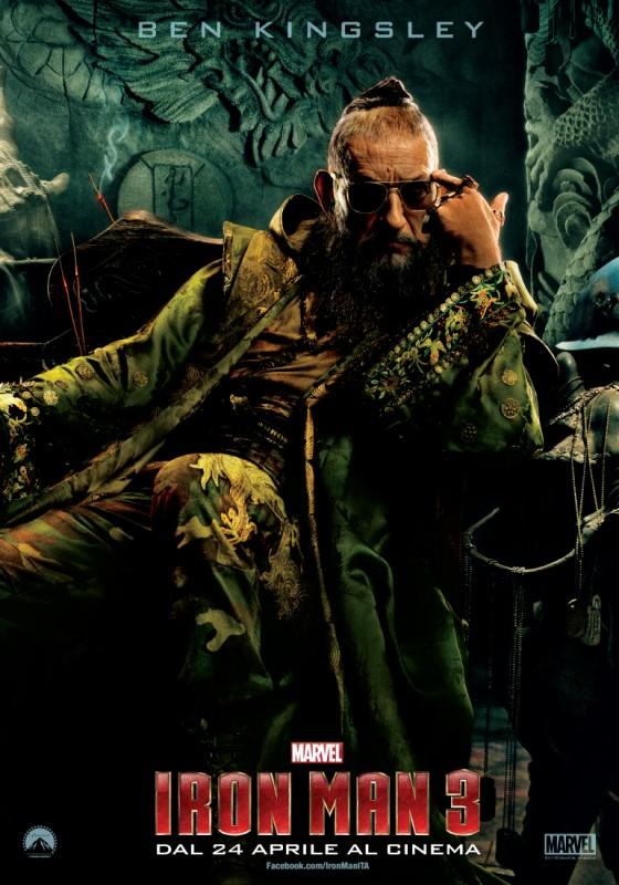 Iron Man 3: Character Poster italiano per Ben Kingsley