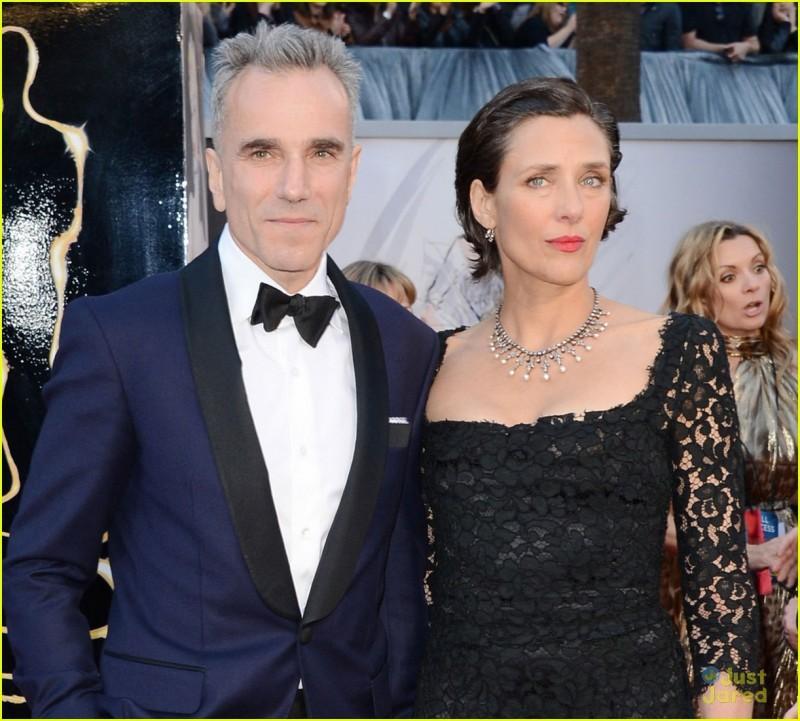 Oscar 2013: Daniel Day-Lewis con la moglia Rebecca Miller sul red carpet