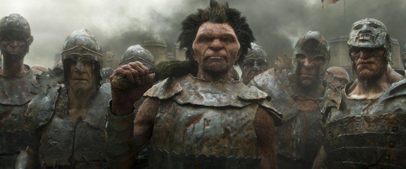 Il cacciatore di giganti: il gigante Fumm in una scena del film