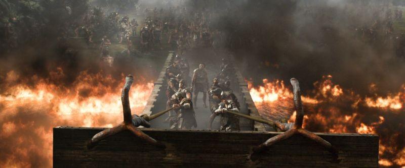 Il cacciatore di giganti: una scena d'azione infuocata tratta dal film diretto da Bryan Singer